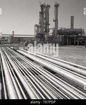 1960s, refinery, Saudi Arabia - Stock Image