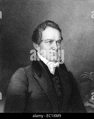 Robert Young Hayne (1791-1839) on engraving from 1835. American politician. - Stock Image
