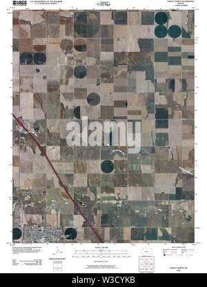 USGS TOPO Map Kansas KS Oakley North 20091126 TM Restoration - Stock Image