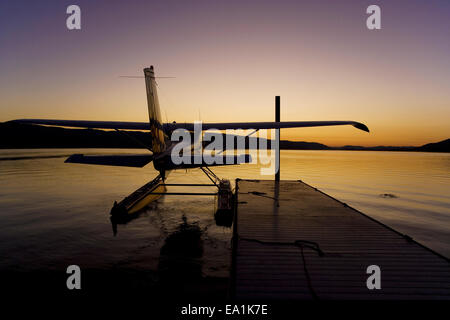 Seaplane Splash-In, Lakeport, California, Lake County, Californ - Stock Image