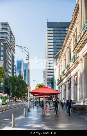 Melbourne city street. - Stock Image