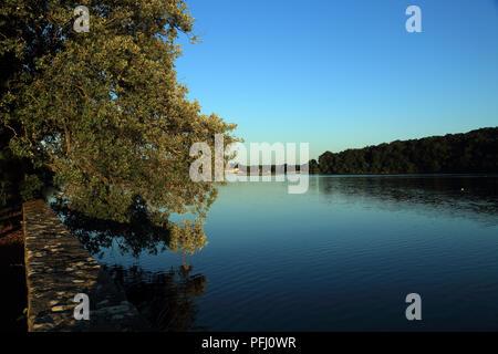 View of Odet River from Domaine de l'orangerie de Lanniron, Quimper, Finistere, Brittany, France - Stock Image