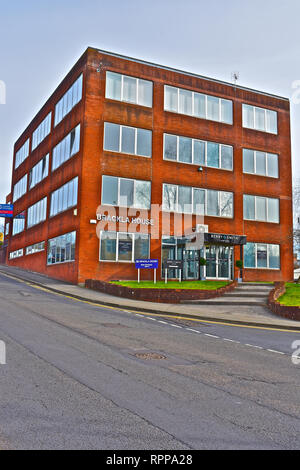 Brackla House is a modern multi-tenure office block close to the town centre of Bridgend, South Wales.Part occupied by Berry Smith Solicitors. - Stock Image