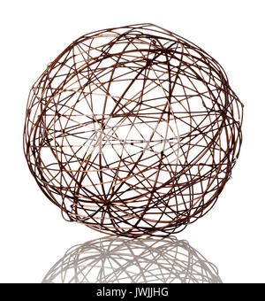 Wire sphere - Stock Image