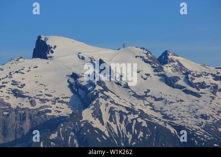 Mount Titlis seen from Mount Stanserhorn, Switzerland. - Stock Image