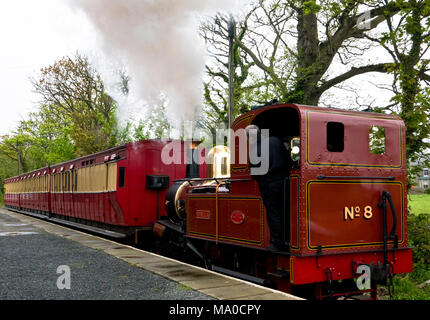 RS 8050  Isle of Man Steam Railway, Port St Mary Station, Isle of Man, UK - Stock Image