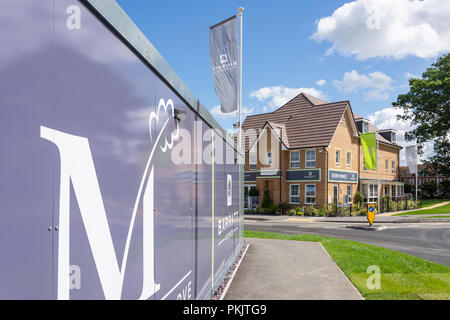 Barratt show home, Marlborough Grove housing estate, Langley Road, Langley, Berkshire, England, United Kingdom - Stock Image