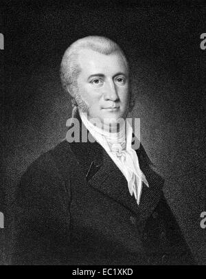 James A. Bayard (1767-1815) on engraving from 1835. American lawyer and politician. - Stock Image