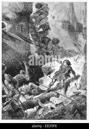 The defeat of Joan of Arc - Stock Image