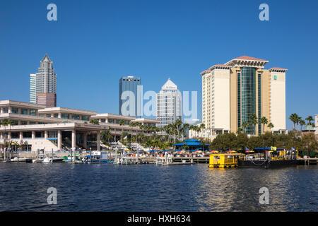 Riverwalk leisure area, Tampa Bay, Florida, USA - Stock Image