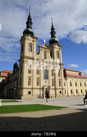The Basilica of Assumption of Mary and Sts. Cyril and Methodius, Velehrad Monastery, Czech Republic. (CTK Photo/Martin Hurin) - Stock Image