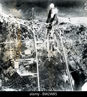 RAF Raid on Valona, the Italian Port in Albania in an effort to help the Greeks - Stock Image