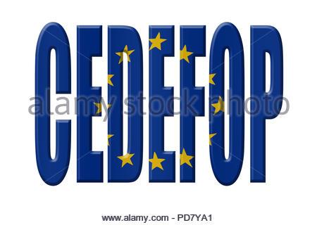 Digital Illustration - EU agency. CEDEFOP European Centre for the Development of Vocational Training (Cedefop), Europäisches Zentrum für die Förderung - Stock Image