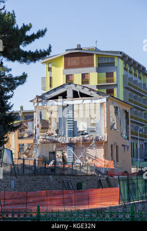 Amatrice,Italy,29 April 2017. The damage caused by the earthquake that hit central Italy in 2016. Amatrice,Italy, - Stock Image