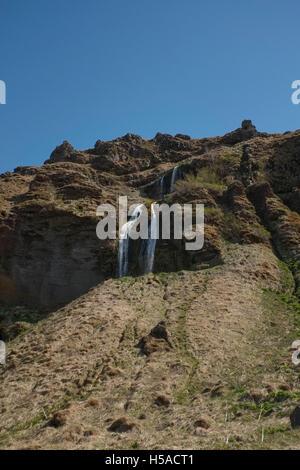 Seljalandsfoss : subsidiary waterfall -Southern Iceland - Stock Image