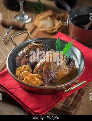Roast grouse. Game bird Food UK - Stock Image