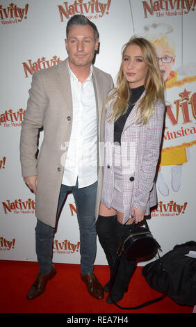 Celebrities attend 'Nativity! The Musical' Press Night held at the Hammersmith Apollo theatre  Featuring: Dean Gaffney Where: London, United Kingdom When: 20 Dec 2018 Credit: WENN.com - Stock Image
