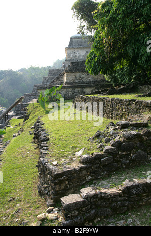 Temple XIII, Palenque Archeological Site, Chiapas State, Mexico - Stock Image