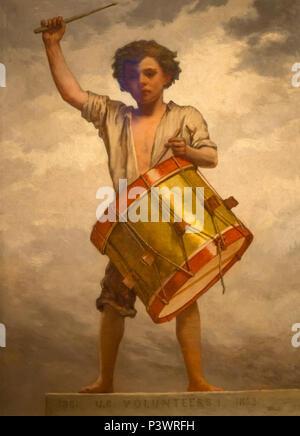The Drummer Boy, William Morris Hunt, circa 1862, Museum of Fine Arts, Boston, Mass, USA, North America - Stock Image