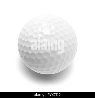 Blank Golf Ball Cut Out on White. - Stock Image