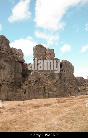 Large rocks in arid area - Stock Image