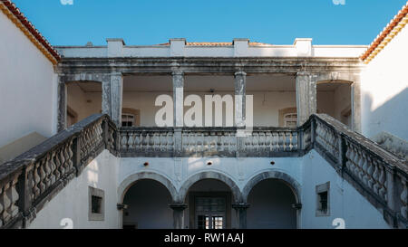 Lisbon, Portugal - March 2nd, 2019: Facade of Casa da Cerca, a 18th-century house used for exhibition space dedicated to contemporary art - Stock Image