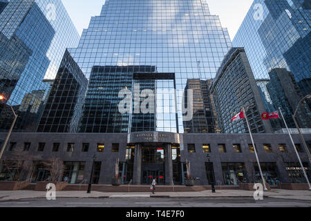 OTTAWA, CANADA - NOVEMBER 10, 2018: Constitution Square entrance in the CBD near buildings of the Ottawa skyline, towers and skyscrapers for Office sp - Stock Image