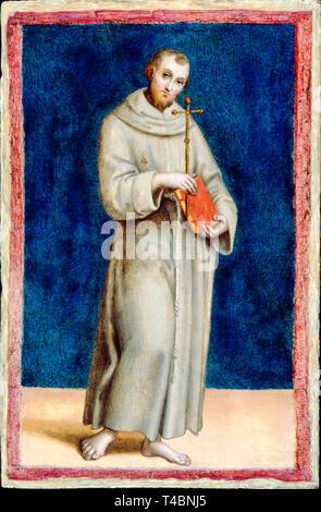 Raphael, Saint Francis of Assisi, portrait painting, c. 1502 - Stock Image