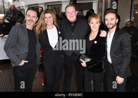 LONDON, UK. March 12, 2019: Coronation Street arriving for the TRIC Awards 2019 at the Grosvenor House Hotel, London. Picture: Steve Vas/Featureflash Credit: Paul Smith/Alamy Live News - Stock Image