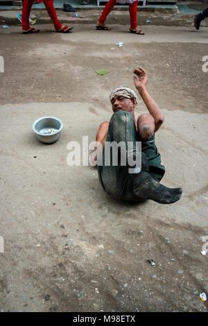 handicapped begger - Stock Image