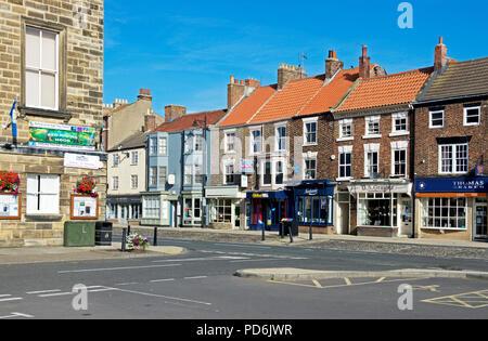 The High Street, Stokesley, Hambleton, North Yorkshire, England UK - Stock Image