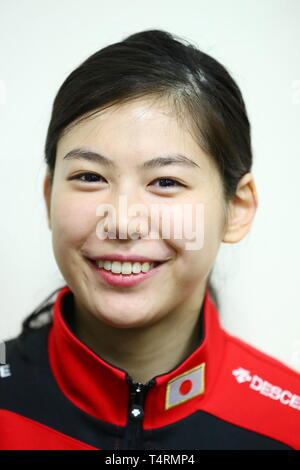 Ajinomoto National Training Center, Tokyo, Japan. 19th Apr, 2019. Karin Miyawaki (JPN), APRIL 19, 2019 - Fencing : Japan National Team Training Session at Ajinomoto National Training Center, Tokyo, Japan. Credit: Naoki Nishimura/AFLO SPORT/Alamy Live News - Stock Image