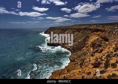 Dazzling natural beauty of Coastal Cliffs in Kalbarri National Park in Western Australia - Stock Image