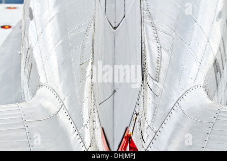 DC-2 preserved airliner aircraft, tail-fuselage detail - Stock Image