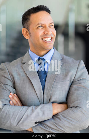 portrait of good looking mature business executive - Stock Image