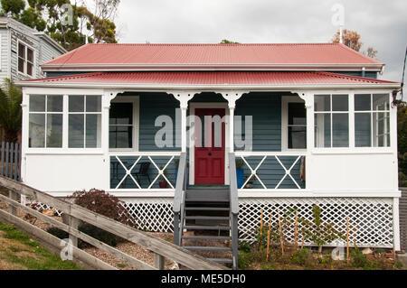 South Hobart streetscape, Hobart, Tasmania, Australia - Stock Image