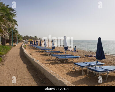 Pernera beach, one of the many alternatives for sun and sea in Ayia apa Cyprus - Stock Image