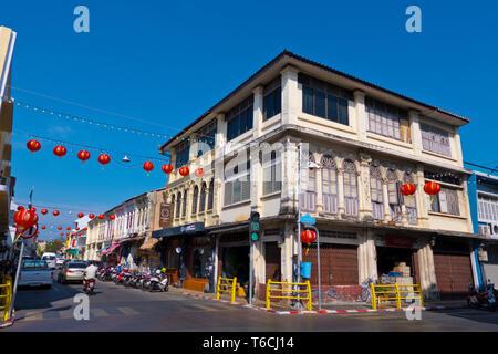 Krabi Road, old town, Phuket town, Thailand - Stock Image
