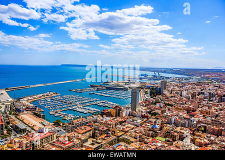 Alicante panoramic view - Stock Image