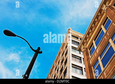side of old office buildings - Stock Image