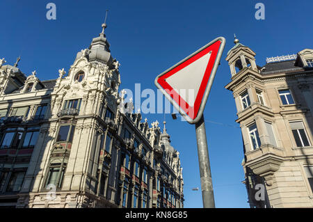 Monopol building , Neo Baroque Architecture,  Zurich, Switzerland - Stock Image