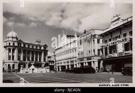 Singapore - Raffles Place. - Stock Image