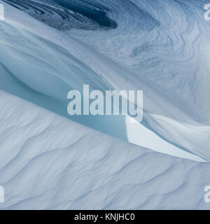 Paxton's Tower. UK. 11th December, 2017. Abstract image of snow drift patterns and shapes, Brecon Beacons National - Stock Image