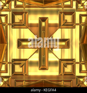 gold ornament - Stock Image
