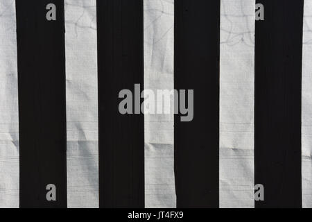 black and white striped lines - Stock Image