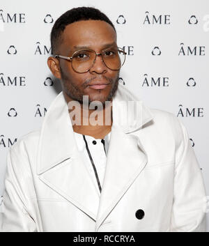 Celebrities attend ÁME Jewelry Launch Event at Eric Buterbaugh Gallery  Featuring: Law Roach Where: Santa Monica, California, United States When: 13 Dec 2018 Credit: Brian To/WENN.com - Stock Image