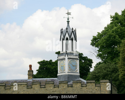 The Clock Tower and Weather Vane at Syon House Constructed in 1831, Brentford, Middlesex, London, UK - Stock Image