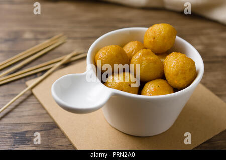 Food curry fish balls - Stock Image