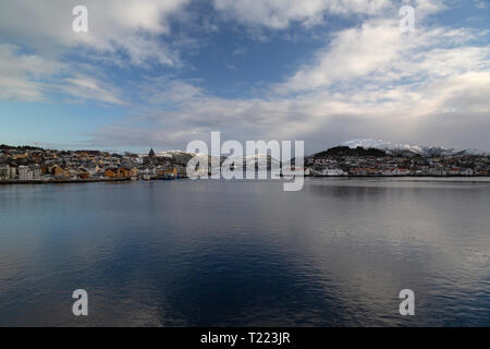 The town of Kristiansund in Norway - Stock Image