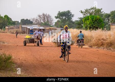 Burkina Faso, Centre-Sud region, Nahouri province, Tiebele - Stock Image